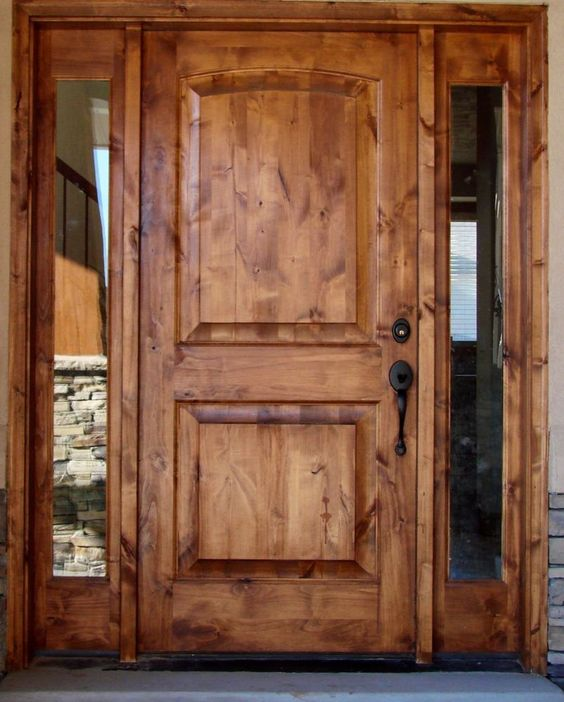 Tuscany Design New Construction Front Entry Solid Wood
