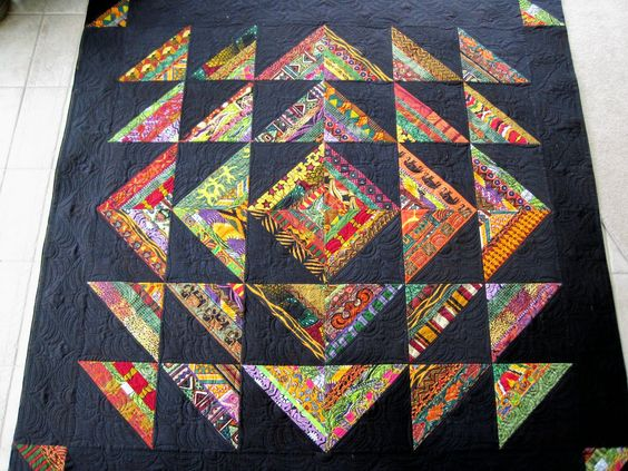 Finely Finished Quilts: Connie's Class Samples..string quilt