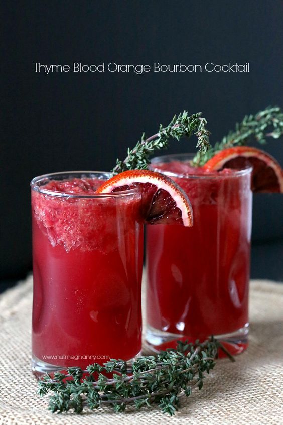 Thyme Blood Orange Bourbon Cocktail