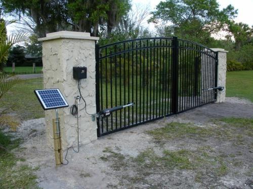 mighty mule 10watt solar panel kit for electric gate opener fm123 at the home depot mobile ideas para el hogar pinterest electric gates