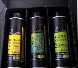 Olivenöl-Set, pur und aromatisiert von Moulin Bonaventure