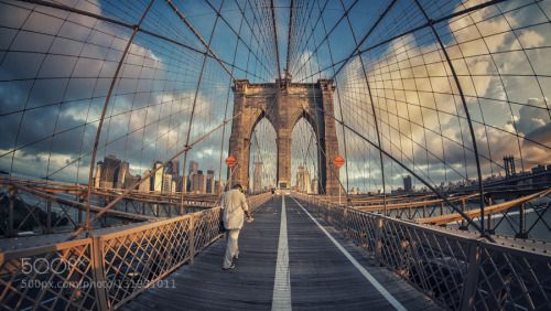 The Seagulls morning sounds by oscarplazadiez  bridge brooklyn city new york urban usa oscarplazadiez