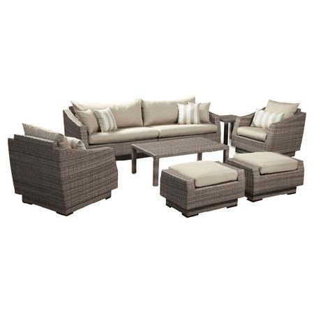 8 Piece Calliope Patio Seating Group in Slate at Joss and