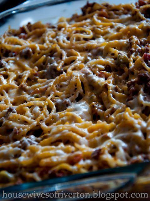 Confetti Spaghetti, baked spaghetti -This is sooo yummy, will have again and again