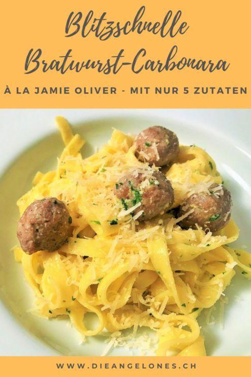 Familienhit Blitzschnelle Bratwurst Carbonara Schweizer Familienblog Die Angelones In 2020 Bratwurst Rezepte Carbonara