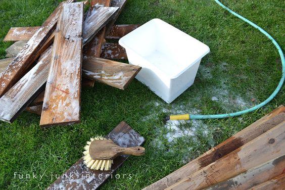 Pallet Farm Table Desk ~ Part 1, gathering the goods | Funky Junk InteriorsFunky Junk Interiors