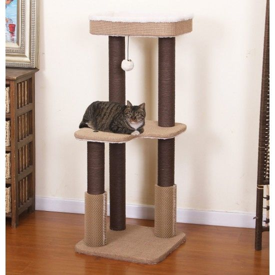 Small Cat Tower For Big Cats With Rubber Massagers Cat Furniture Cat Tree Cat Litter Box Furniture