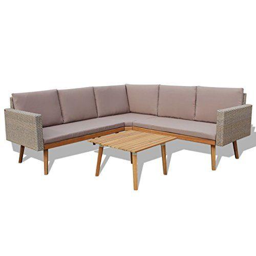 Vidaxl Garden Sofa Set 13 Piece Poly Rattan Gray Outdoor Patio
