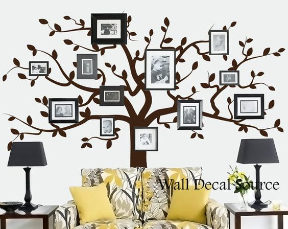Family Tree Wall Decal Wall Tree Decal Photo frame tree wall Home Decor Living Room Memory tree decals