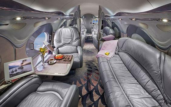 interieurs de jets prives incroyables 2   Intérieurs de jets privés incroyables   photo Nick Gleis luxe jet prive image design avion