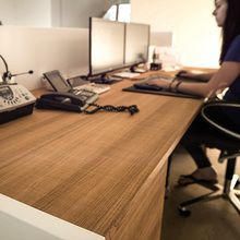 Working Table with structured oak surface oiled. Nice and very natural sample of styrian craftmanship!