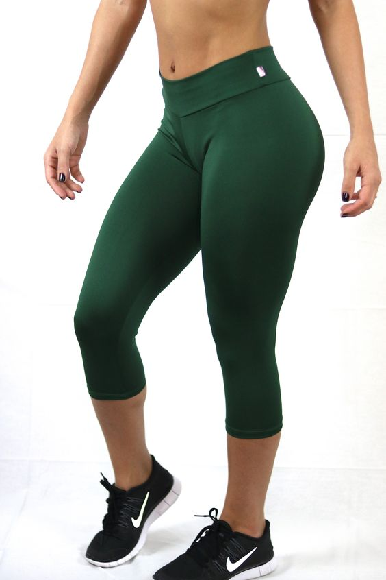 Supplex Mid Rise Brazilian Made Cropped Leggings, Yoga Pants ...