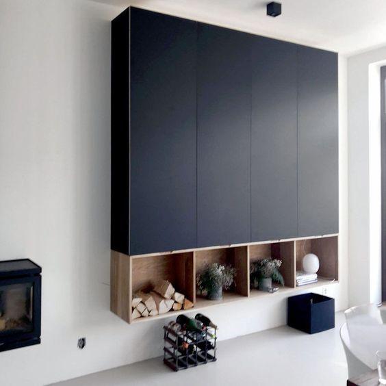 Kastenwand Ikea Metod Met Fenix Fronten Interieur