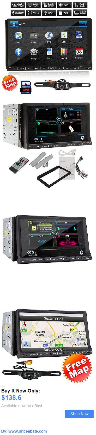 Vehicle Electronics And GPS: Double 2 Din 7 Gps Car Dvd Mp3 Player Touch Screen In Dash Stereo Camera BUY IT NOW ONLY: $138.6 #priceabateVehicleElectronicsAndGPS OR #priceabate