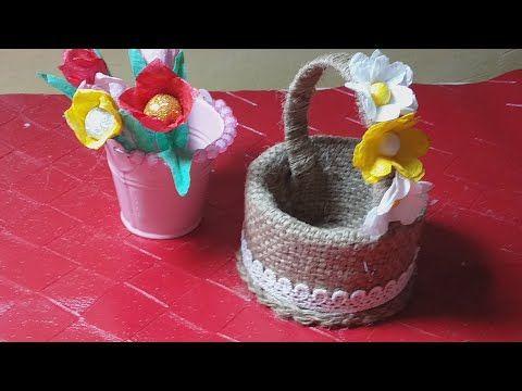 فكرة في خمس دقائق اعادة تدوير قماش الخيش وعمل ديكور جميل جدا Youtube Desserts Food Pudding
