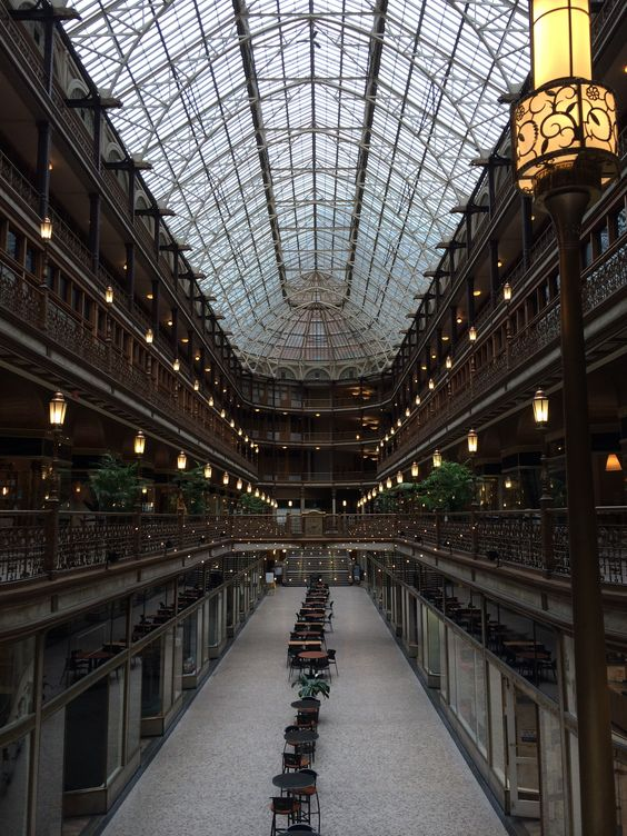 Old arcade in downtown Cleveland,Ohio