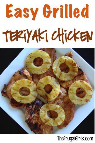 Grilled teriyaki chicken, Teriyaki chicken and Easy chicken marinade ...