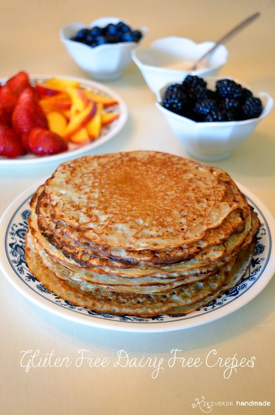 Gluten free dairy free Crepes recipe at Kikiverde.com So easy and great for entertaining!