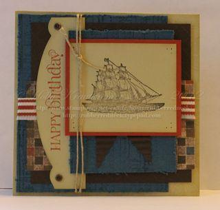 Masculine card idea: Papercraft Masculinecards, Cards Open, Cards Stampin, Cards Su Open Sea, Ideas Stampin Up, Cards Masculine, Cards Nautical Theme, Masculine Card, Sea Stamp