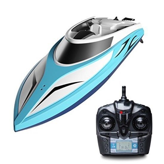 High Speed Electric RC Boat for Kids//Adults-Blue STOTOY Remote Control Boat for Lakes and Pools