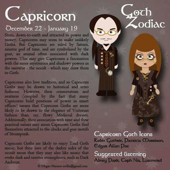 Capricorn Goth zodiac