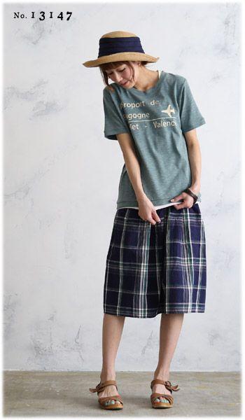 【楽天市場】◆◆SALE!!セール「返品・交換・キャンセル不可」◆◆Tシャツ M/L/LLサイズ 絶妙なこなれ感漂う、カジュアルに。飛行機プリントスラブTシャツレディース/半袖/コットン混/綿混/カットソーsoulberryオリジナル:soulberry