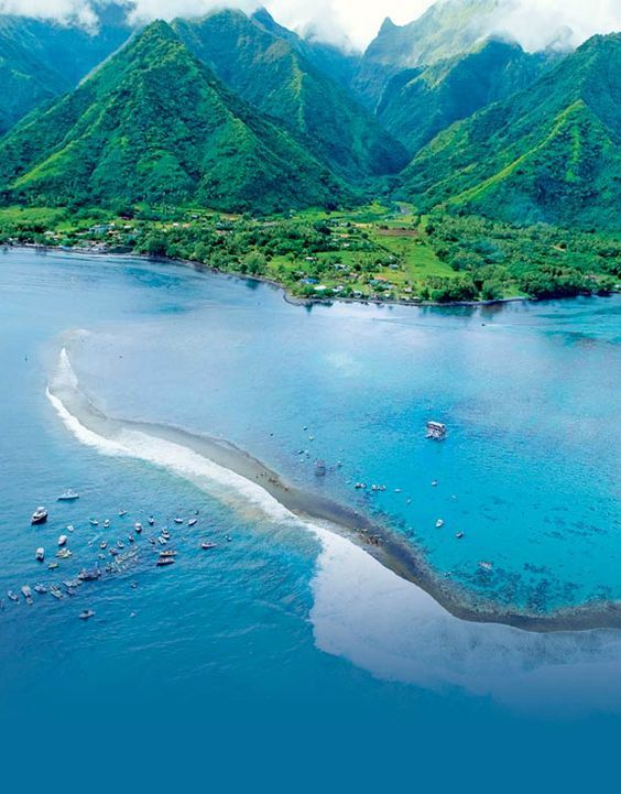 Tahiti is the largest island in the Windward group of French Polynesia and also home of Teahupoo. #Surfing #Travel #Tahiti