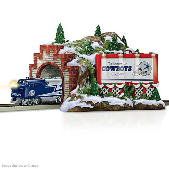 Dallas Cowboys Christmas Mountain Tunnel Train Accessory