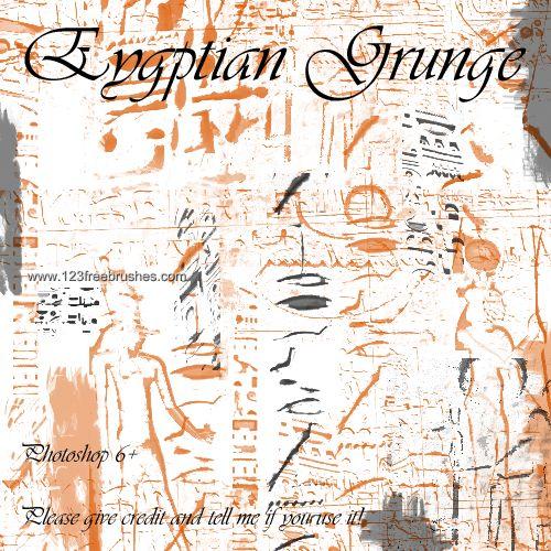 Egyptian Grunge - Download  Photoshop brush http://www.123freebrushes.com/egyptian-grunge/ , Published in #GrungeSplatter. More Free Grunge & Splatter Brushes, http://www.123freebrushes.com/free-brushes/grunge-splatter/ | #123freebrushes