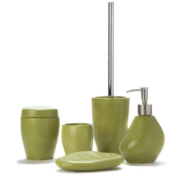 ensemble daccessoires de salle de bains vert vert jarro sets et flacons - Ensemble Salle De Bain Gris