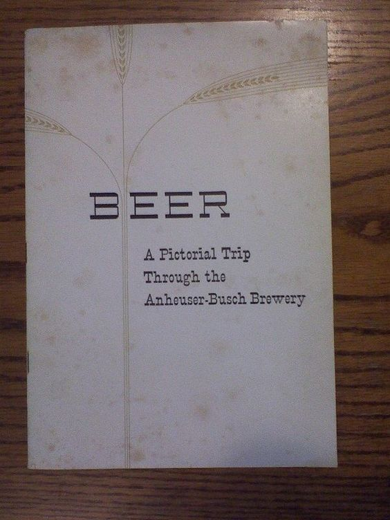 1937 Anheuser Busch Budweiser Beer Pictorial Brewery Trip Booklet W/ Pics