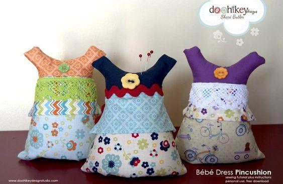 Bebe Dress Pincushion: Dress Pincushions, Category Pincushions, Pincushion Patterns, Sewing Pincushions, Patterns Pincushion, Pincushions Sewing