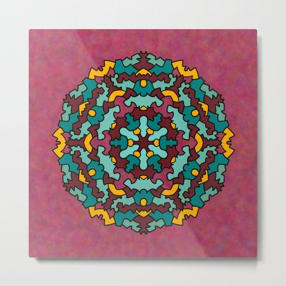 Enjoy Super Sharp Image Details And Rich Vibrant Colors No We Re Not Talking About The Newest Hdtvs But Our Lightweight Metal Prints Art Mandala