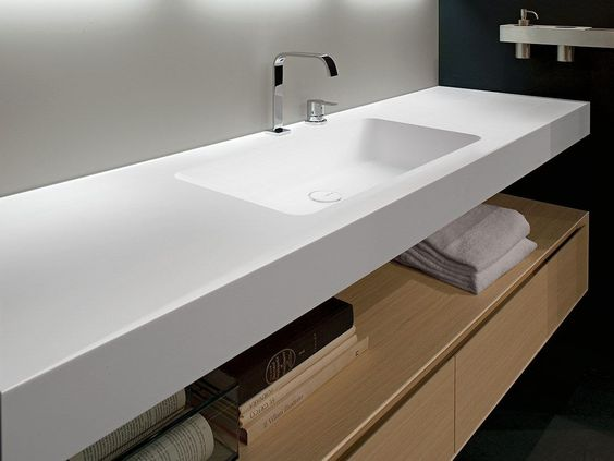 plan de toilette en corian arco by antonio lupi design design nevio tellatin salle de bain. Black Bedroom Furniture Sets. Home Design Ideas