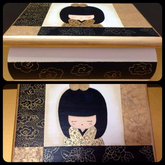 Caja de madera pintada a mano manualidades madera - Cajas de madera pintadas a mano ...