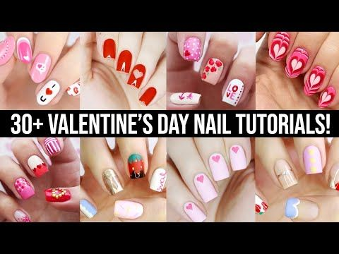Cute Nail Art 2020 Fun Easy Valentine S Day Nail Design Compilation Youtube In 2020 Valentine S Day Nails Cute Nail Art Valentine S Day Nail Designs