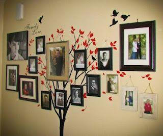 Familytree: Photo Display, Wall Idea, Decorating Ideas, Photo Wall, Wall Decal, Family Photo
