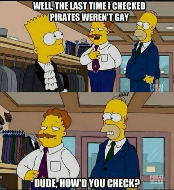 Pirates not gay