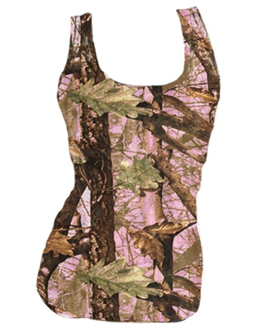 """Southern Sisters Designs - Fitted """"Huntress"""" Pink Camo Tank Top For Women, $16.95 (http://www.southernsistersdesigns.com/fitted-huntress-pink-camo-tank-top-for-women/)"""