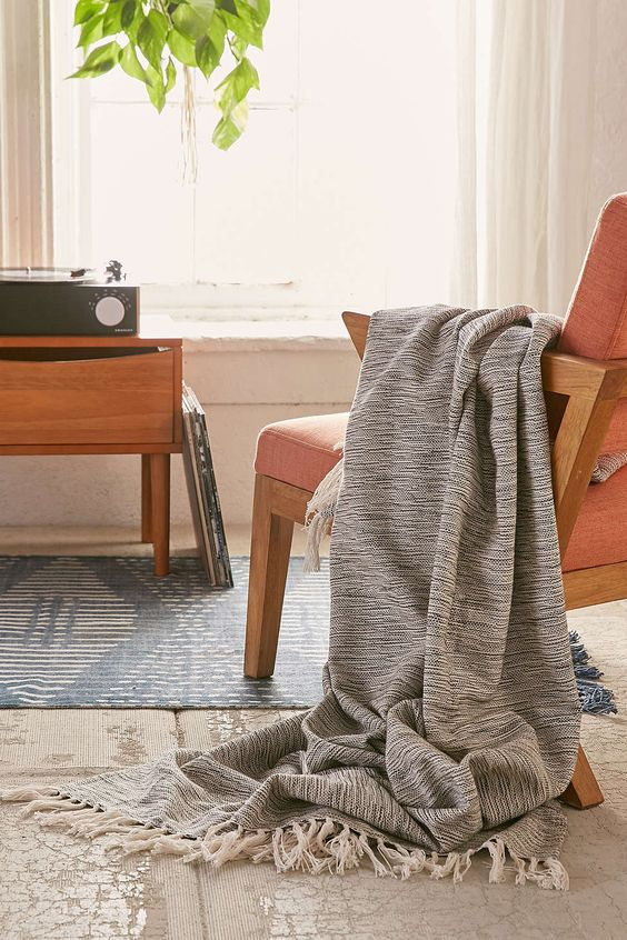 Marley Two-Toned Throw Blanket - Urban Outfitters: