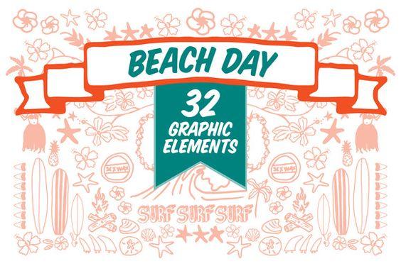 Beach Day by maceymackubin on Creative Market