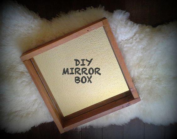 Wooden Mirror Box