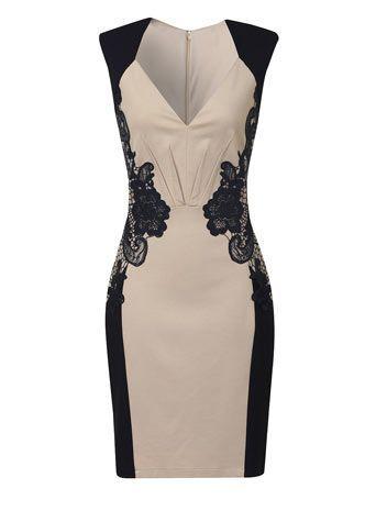 AMO ISSO!  Creme e azul marinho vestido de renda - Going Out & ocasião - Vestidos - Vennie Moda Online: