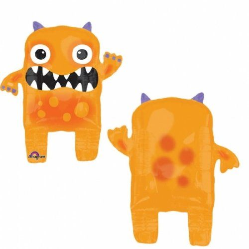 Amazon.com: Orange Monster Halloween Airwalker Foil Balloon Party Supplies (Orange): Toys & Games