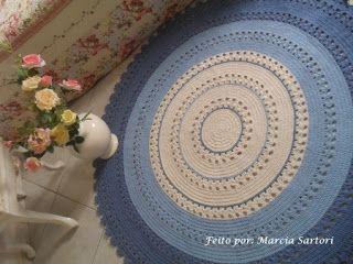 marcia sartori crochetando: Tapetes
