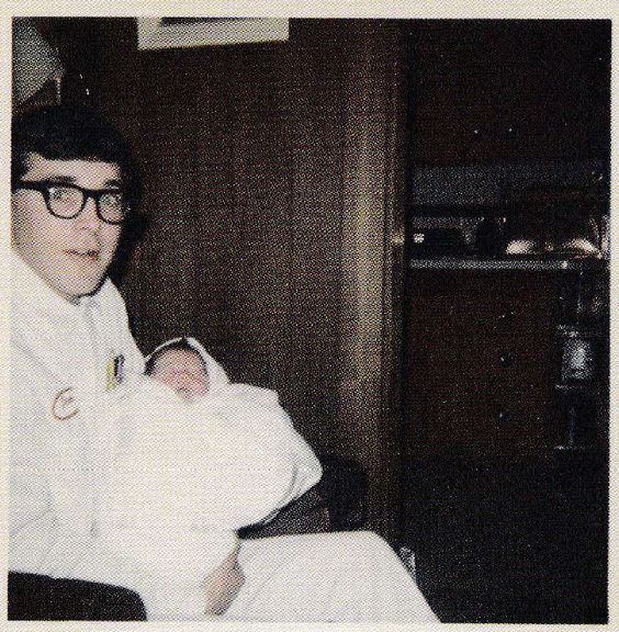 Don Cobain Kurt Cobain's father holds his new-born son 1967. http://t.co/d5XqMBMJqU