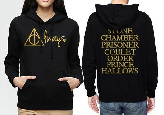 After All This Time Always Deathly Hallows Mens Unisex Hooded Heavy Blend Hoody