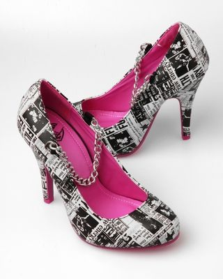 Newspaper Heels: Show off your love for the written word with these kick-ass pumps.