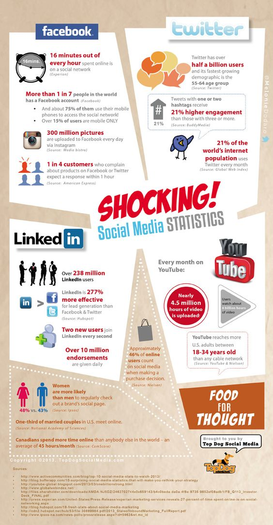 Social Media Stats 2013 #infographic
