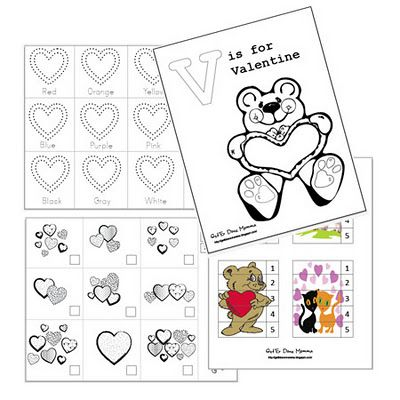 Valentine Activities For Tot Free Printables